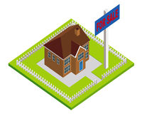 House for Sale. An illustration of a house for sale Royalty Free Stock Photos