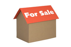 House For Sale. The state of the housing market or any text you wish isolated on white Stock Images