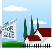 House For Sale. Sold Stock Image