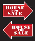 House For Sale Arrows royalty free stock image