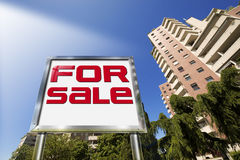 House For sale - Big Chrome Billboard Stock Images
