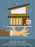 House for sale on big hand Stock Image