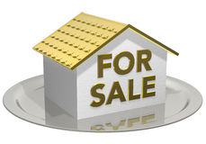House for sale golden Stock Photo