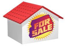 House for sale graffiti Royalty Free Stock Photography