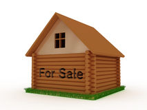 House for sale with grass around Stock Photography