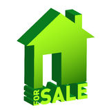 House for sale icon isolated on white Royalty Free Stock Photos