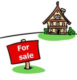 House for sale illustration Stock Photos