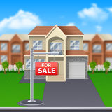 House For Sale Illustration Stock Photo