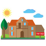 House for sale illustration Royalty Free Stock Photography