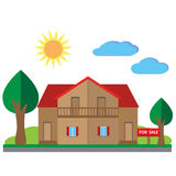 House for sale illustration Royalty Free Stock Photos