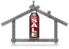House For Sale - Metal Meter Tool Royalty Free Stock Photography