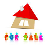 House For Sale Paper Icon Royalty Free Stock Photography