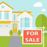 The house on sale Royalty Free Stock Photography