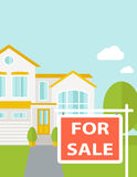 The house on sale Royalty Free Stock Photos