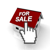 House for sale. With pointer Stock Image