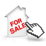 House for sale. With pointer Stock Photography
