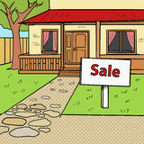 House for sale pop art style vector Stock Photo