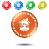 House for sale push button set,3D illustration. House for sale push button set,best 3D illustration Royalty Free Stock Photo