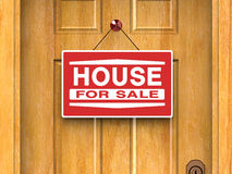 House for sale, Real estate, Home, Door. House for sale, Real estate, Home, Advertisement, Banking, Business,Investment. Door with For Sale sign Royalty Free Stock Image