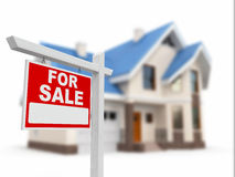 House for Sale sign Stock Photo