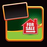 House for sale sign on green halftone ad Royalty Free Stock Images