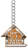 House For Sale - Sign Hanging from Chain Royalty Free Stock Photos