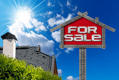 House For Sale Sign - Metallic Meter Royalty Free Stock Image