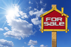 House For Sale Sign - Wooden Meter Royalty Free Stock Image