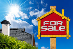 House For Sale Sign - Wooden Meter Stock Photos