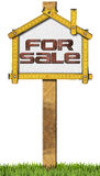 House For Sale Sign - Wooden Meter Stock Photography