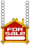 House For Sale Sign - Wooden Meter Royalty Free Stock Photos