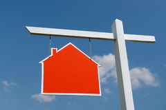 House sale signpost Royalty Free Stock Images