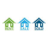 House For Sale, sold and For Rent. Vectore image Royalty Free Stock Images