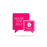 House for sale speech bubble vector Royalty Free Stock Images