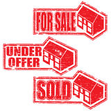 House For Sale Stamps Royalty Free Stock Image