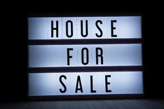 House for sale. `House for sale` text in lightbox Stock Photos