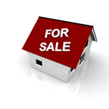 House for sale. House with the text House for sale on the roof Royalty Free Stock Photos