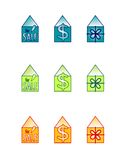 House for sale icons Stock Images
