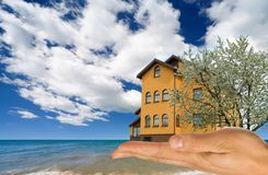 House on sand. Royalty Free Stock Photography