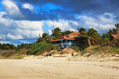 House on the sandy beach Stock Image