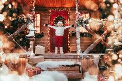 House of santa claus stock photos