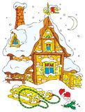 House of Santa Clause Royalty Free Stock Images