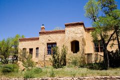 House in Santa Fe. A house in Santa Fe done in the southwestern style Royalty Free Stock Images
