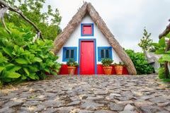 House in Santana, Madeira Island Stock Photos