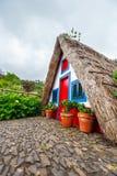 House in Santana, Madeira Island Royalty Free Stock Photography