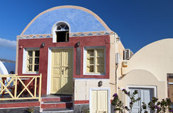 House at Santorini island in Greece Stock Photos