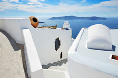 The house on Santorini island Royalty Free Stock Photo