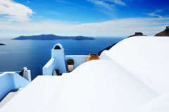 The house on Santorini island Royalty Free Stock Images
