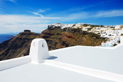 The house on Santorini island Stock Images