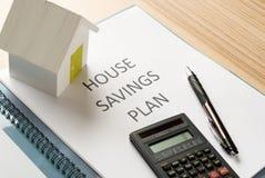 House saving plan Stock Photo